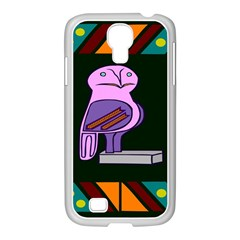 Owl A Colorful Modern Illustration For Lovers Samsung Galaxy S4 I9500/ I9505 Case (white) by Simbadda
