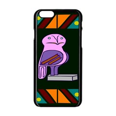 Owl A Colorful Modern Illustration For Lovers Apple Iphone 6/6s Black Enamel Case by Simbadda