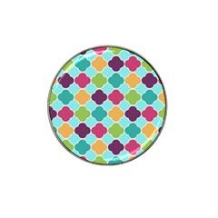Colorful Quatrefoil Pattern Wallpaper Background Design Hat Clip Ball Marker (10 Pack) by Simbadda