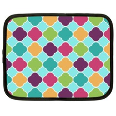 Colorful Quatrefoil Pattern Wallpaper Background Design Netbook Case (xl)  by Simbadda