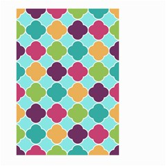 Colorful Quatrefoil Pattern Wallpaper Background Design Large Garden Flag (two Sides) by Simbadda