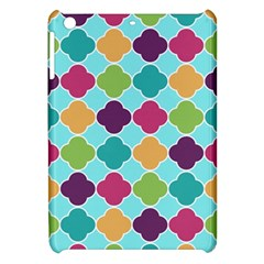 Colorful Quatrefoil Pattern Wallpaper Background Design Apple Ipad Mini Hardshell Case by Simbadda