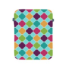 Colorful Quatrefoil Pattern Wallpaper Background Design Apple Ipad 2/3/4 Protective Soft Cases by Simbadda