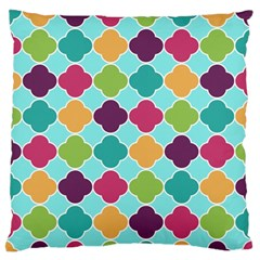 Colorful Quatrefoil Pattern Wallpaper Background Design Standard Flano Cushion Case (two Sides) by Simbadda