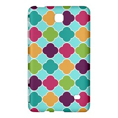 Colorful Quatrefoil Pattern Wallpaper Background Design Samsung Galaxy Tab 4 (7 ) Hardshell Case  by Simbadda