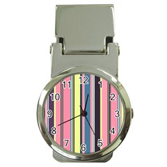 Seamless Colorful Stripes Pattern Background Wallpaper Money Clip Watches by Simbadda