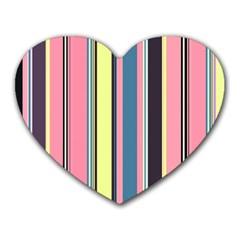 Seamless Colorful Stripes Pattern Background Wallpaper Heart Mousepads by Simbadda