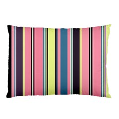 Seamless Colorful Stripes Pattern Background Wallpaper Pillow Case by Simbadda
