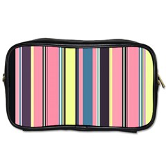 Seamless Colorful Stripes Pattern Background Wallpaper Toiletries Bags 2-Side by Simbadda