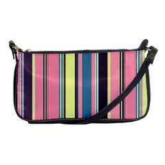 Seamless Colorful Stripes Pattern Background Wallpaper Shoulder Clutch Bags by Simbadda