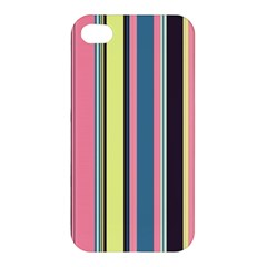 Seamless Colorful Stripes Pattern Background Wallpaper Apple Iphone 4/4s Hardshell Case by Simbadda