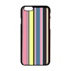 Seamless Colorful Stripes Pattern Background Wallpaper Apple Iphone 6/6s Black Enamel Case by Simbadda