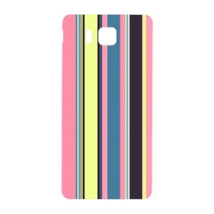 Seamless Colorful Stripes Pattern Background Wallpaper Samsung Galaxy Alpha Hardshell Back Case by Simbadda