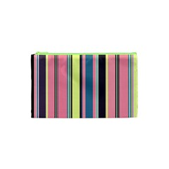 Seamless Colorful Stripes Pattern Background Wallpaper Cosmetic Bag (xs)