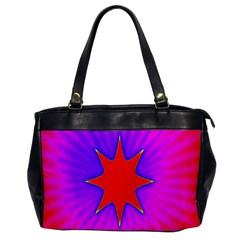 Pink Digital Computer Graphic Office Handbags by Simbadda