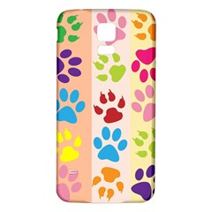 Colorful Animal Paw Prints Background Samsung Galaxy S5 Back Case (white) by Simbadda