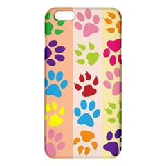 Colorful Animal Paw Prints Background Iphone 6 Plus/6s Plus Tpu Case by Simbadda