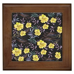 Wildflowers Ii Framed Tiles by tarastyle