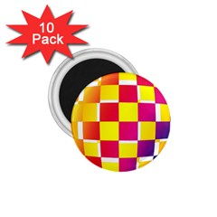 Squares Colored Background 1 75  Magnets (10 Pack)  by Simbadda