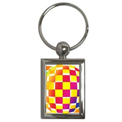 Squares Colored Background Key Chains (rectangle)  by Simbadda