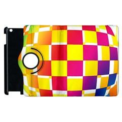 Squares Colored Background Apple Ipad 2 Flip 360 Case by Simbadda