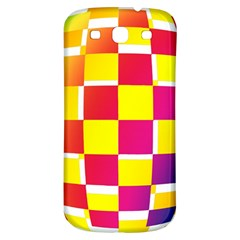 Squares Colored Background Samsung Galaxy S3 S Iii Classic Hardshell Back Case by Simbadda