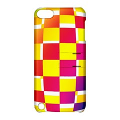 Squares Colored Background Apple Ipod Touch 5 Hardshell Case With Stand by Simbadda