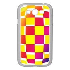 Squares Colored Background Samsung Galaxy Grand Duos I9082 Case (white) by Simbadda