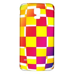 Squares Colored Background Samsung Galaxy S5 Back Case (white) by Simbadda