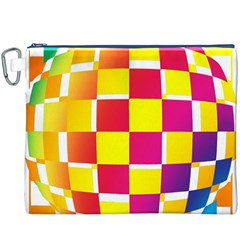 Squares Colored Background Canvas Cosmetic Bag (xxxl) by Simbadda
