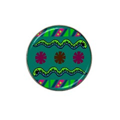 A Colorful Modern Illustration Hat Clip Ball Marker (4 Pack) by Simbadda