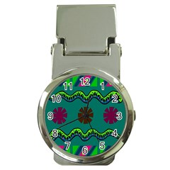 A Colorful Modern Illustration Money Clip Watches by Simbadda