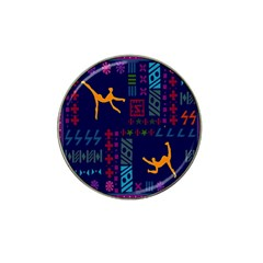 A Colorful Modern Illustration For Lovers Hat Clip Ball Marker (4 Pack) by Simbadda