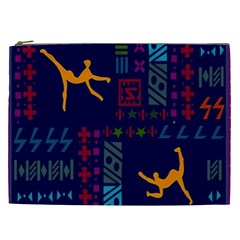 A Colorful Modern Illustration For Lovers Cosmetic Bag (xxl)  by Simbadda