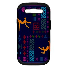A Colorful Modern Illustration For Lovers Samsung Galaxy S Iii Hardshell Case (pc+silicone) by Simbadda