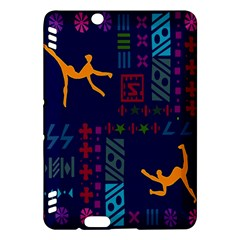 A Colorful Modern Illustration For Lovers Kindle Fire Hdx Hardshell Case by Simbadda