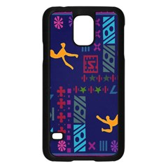 A Colorful Modern Illustration For Lovers Samsung Galaxy S5 Case (black) by Simbadda