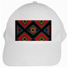 Abstract A Colorful Modern Illustration White Cap by Simbadda