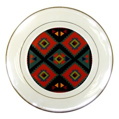 Abstract A Colorful Modern Illustration Porcelain Plates by Simbadda
