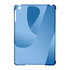 Abstract Blue Background Swirls Apple Ipad Mini Hardshell Case (compatible With Smart Cover) by Simbadda