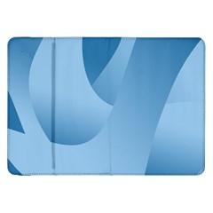 Abstract Blue Background Swirls Samsung Galaxy Tab 8 9  P7300 Flip Case by Simbadda