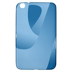 Abstract Blue Background Swirls Samsung Galaxy Tab 3 (8 ) T3100 Hardshell Case  by Simbadda