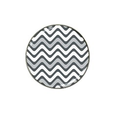 Shades Of Grey And White Wavy Lines Background Wallpaper Hat Clip Ball Marker (10 Pack) by Simbadda