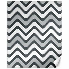 Shades Of Grey And White Wavy Lines Background Wallpaper Canvas 16  X 20   by Simbadda