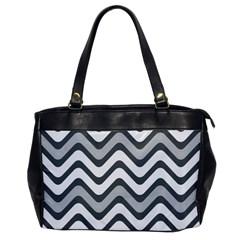 Shades Of Grey And White Wavy Lines Background Wallpaper Office Handbags by Simbadda