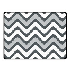 Shades Of Grey And White Wavy Lines Background Wallpaper Fleece Blanket (small) by Simbadda