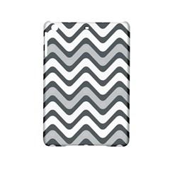 Shades Of Grey And White Wavy Lines Background Wallpaper Ipad Mini 2 Hardshell Cases by Simbadda