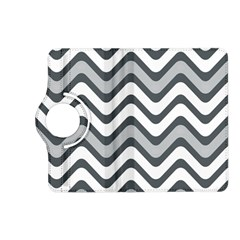 Shades Of Grey And White Wavy Lines Background Wallpaper Kindle Fire Hd (2013) Flip 360 Case by Simbadda