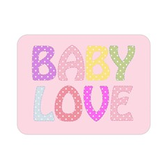 Pink Baby Love Text In Colorful Polka Dots Double Sided Flano Blanket (mini)  by Simbadda