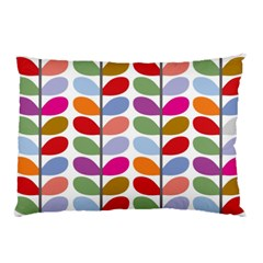 Colorful Bright Leaf Pattern Background Pillow Case (two Sides) by Simbadda